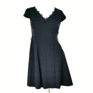 Vera Wang Cap Sleeve Cocktail Dress w/ Pockets